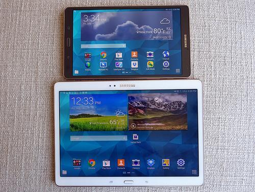 Samsung Galaxy Tab S in two sizes