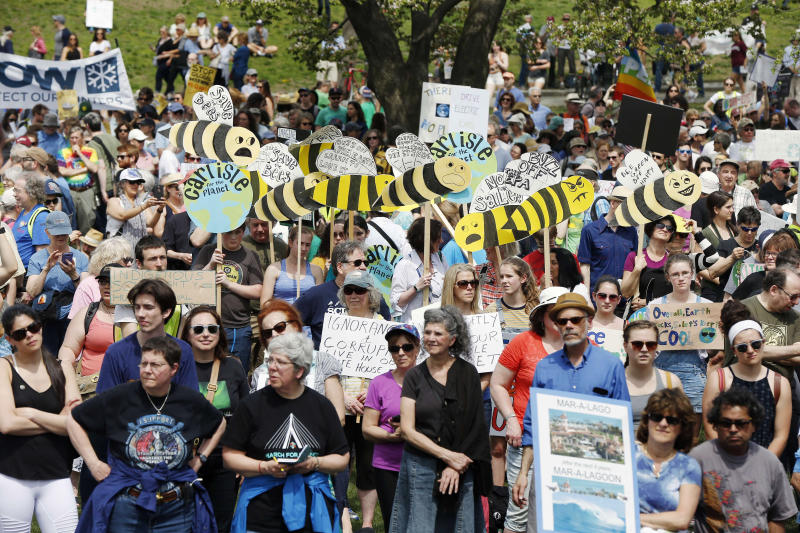 Rallies focus on danger posed by climate change