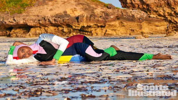 PHOTO: Halima Aden wears a burkini in the Sports Illustrated Swimsuit Issue 2019.  (Sports Illustrated)