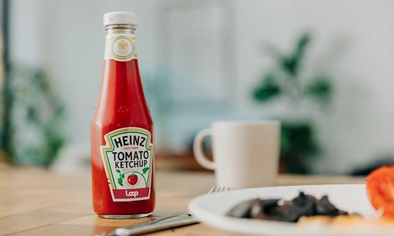 Loop will deliver Heinz's tomato ketchup in its patented glass octagonal bottles which were designed 130 years ago.