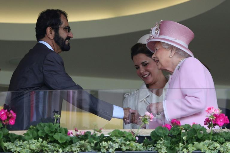 Sheikh Mohammed has close links to the British royal family and shares a passion for horse racing with Queen Elizabeth II (AFP/JUSTIN TALLIS)