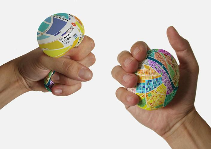 """<p>On first glance, it looks like a rubber stress ball covered with a pretty pattern, but grip it hard and it reveals its secrets: This squishy little oddity is a detailed map! No folding necessary, no Wi-Fi signal needed. (Photo: <a href=""""https://www.behance.net/gallery/13527595/Egg-Map"""" rel=""""nofollow noopener"""" target=""""_blank"""" data-ylk=""""slk:Dénes Sátor/Behance"""" class=""""link rapid-noclick-resp"""">Dénes Sátor/Behance</a>)</p>"""