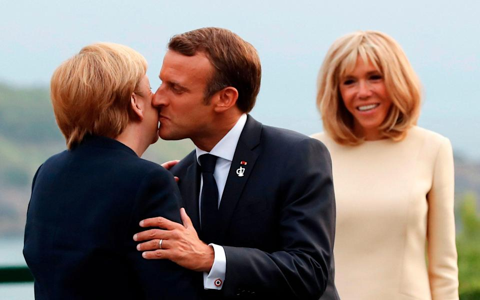 Macron and Merkel engaged in the age-old French tradition