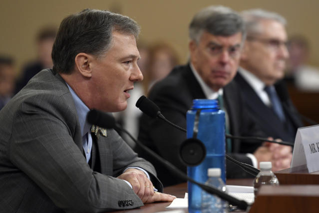 Career foreign service officer George Kent testifies before the House Intelligence Committee. (Photo: Susan Walsh/AP)