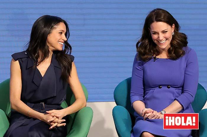 Meghan and Kate at an official event in February 2018 a few months after they met
