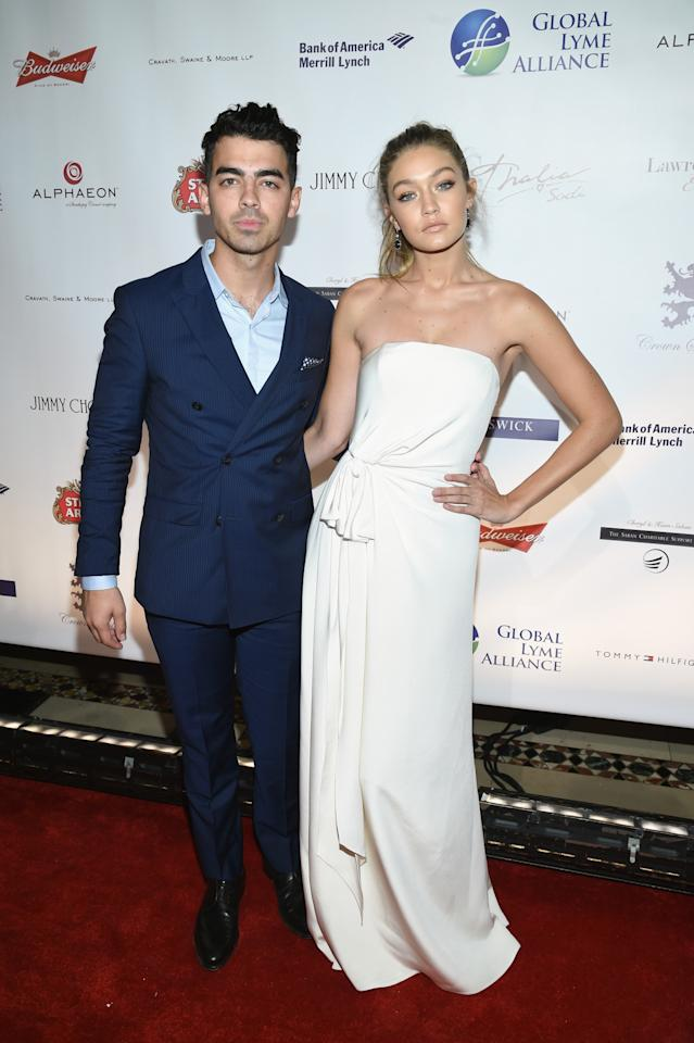 "<p>While Joe Jonas and Gigi Hadid have been hot and heavy for a while now — they even has a cute celebrity couple nickname, GiJoe — the pair stepped out together on the red carpet for the first time on Thursday night. Jonas opened up about his girlfriend <a href=""https://www.yahoo.com/style/gigi-hadid-to-body-shamers-if-you-dont-like-it-144842854.html"">confronting her body shamers on Instagram recently</a> (""Yes, I have boobs, I have abs, I have a butt, I have thighs, but I'm not asking for special treatment,"" she wrote. ""Your mean comments don't make me want to change my body.""), saying he's really proud of her. ""I think it's something that needs to be spoken about especially in that community. The industry seems to be changing for models, and it's great that she can have a voice."" </p>"