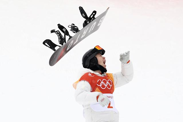 <p>PYEONGCHANG-GUN, SOUTH KOREA – FEBRUARY 14: Gold medalist Shaun White of the United States celebrates during the Snowboard Men's Halfpipe Final on day five of the PyeongChang 2018 Winter Olympics. (Getty Images) </p>