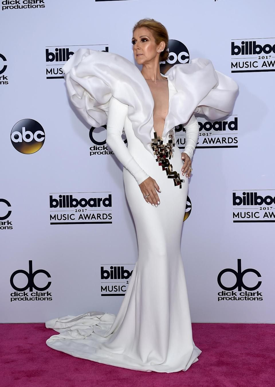 Celine Dion wearing Stephane Rolland Haute Couture (Getty Images)
