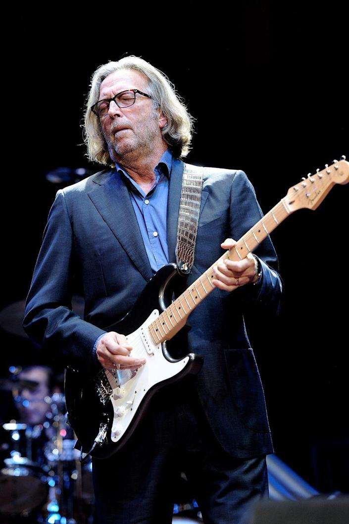 """<p>The English guitarist struggled with his alcohol addiction for much of his early career. After the birth of his son in 1986, Clapton made the decision to truly get sober and has continued to live in sobriety ever since. </p><p><em>H/T: <a href=""""https://www.vanityfair.com/style/2007/11/clapton200711"""" rel=""""nofollow noopener"""" target=""""_blank"""" data-ylk=""""slk:Vanity Fair"""" class=""""link rapid-noclick-resp"""">Vanity Fair</a></em></p>"""