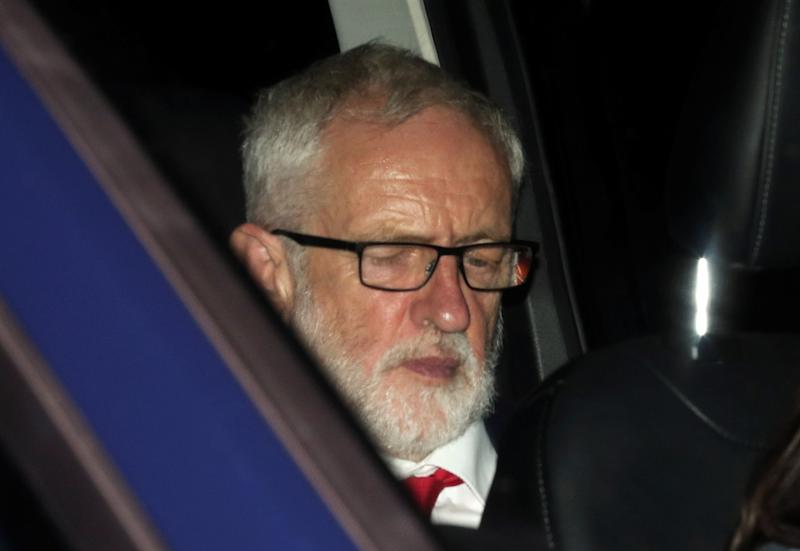 Britain's opposition Labour Party leader Jeremy Corbyn leaves the Houses of Parliament, in London, Britain, September 4, 2019. REUTERS/Hannah McKay