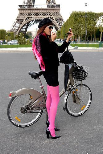 """<div class=""""caption-credit""""> Photo by: cyclechicparis.com</div>Parisian women know how to make biking chic, just like everything else they do."""