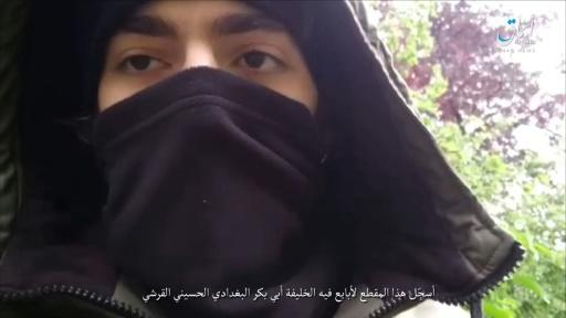 The IS propaganda agency Amaq released a video which it claimed shows Azimov pledging allegiance to the jihadist group