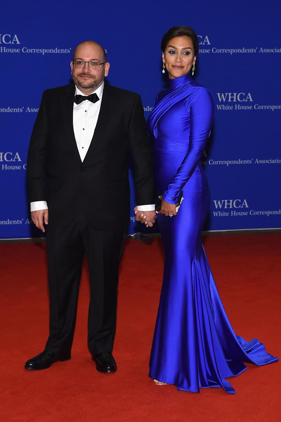 <p>Journalist Jason Rezaian and Yeganeh Salehi attend the 102nd White House Correspondents' Dinner, April 30. <i>(Photo: Larry Busacca/Getty Images)</i></p>