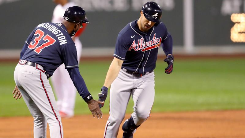 Duvall crushes three HRs for Braves, Rays beat Yankees