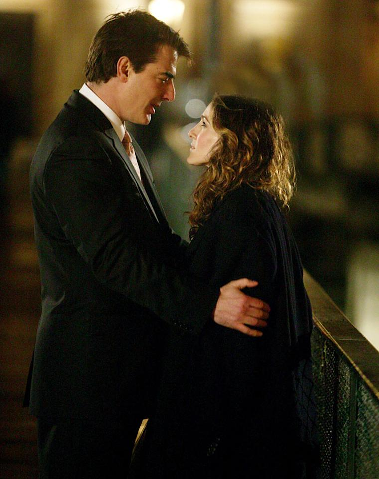 SEX AND THE CITY, (from left): Chris Noth, Sarah Jessica Parker, An American Girl in Paris (Part Deux), (Season 6, ep. 620, aired Feb. 22, 2004), 1998-2004