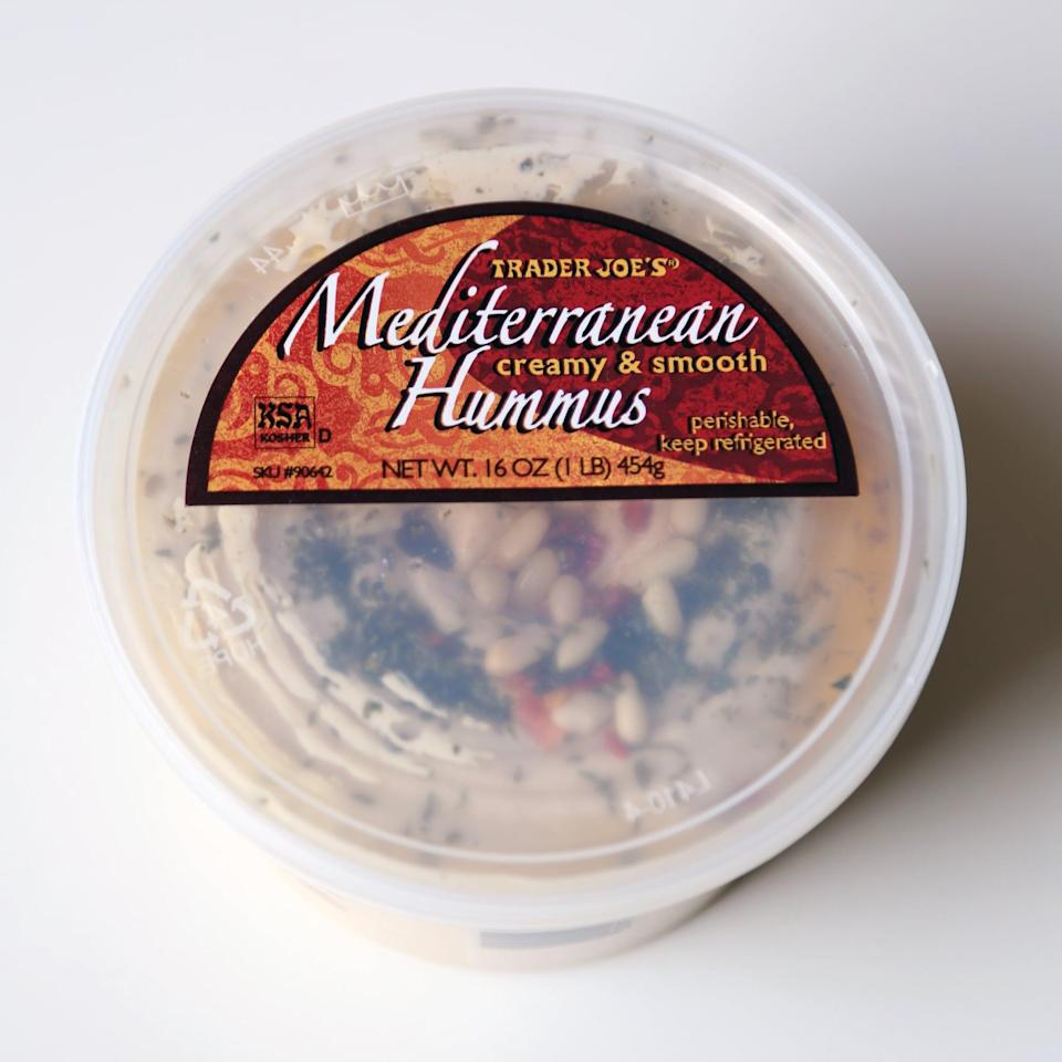 <p>Of all the hummus options at TJ's, this is one of the best. When it starts getting low, you can add some new pine nuts and hot sauce, and it's as good as new!</p>