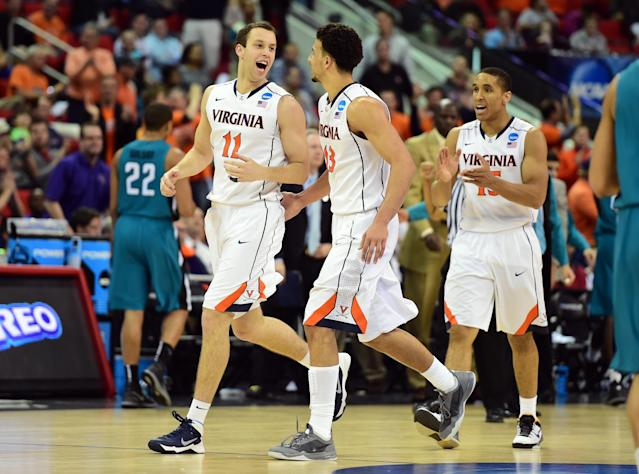 No. 1 seed Virginia uses hot second half shooting to avoid upset
