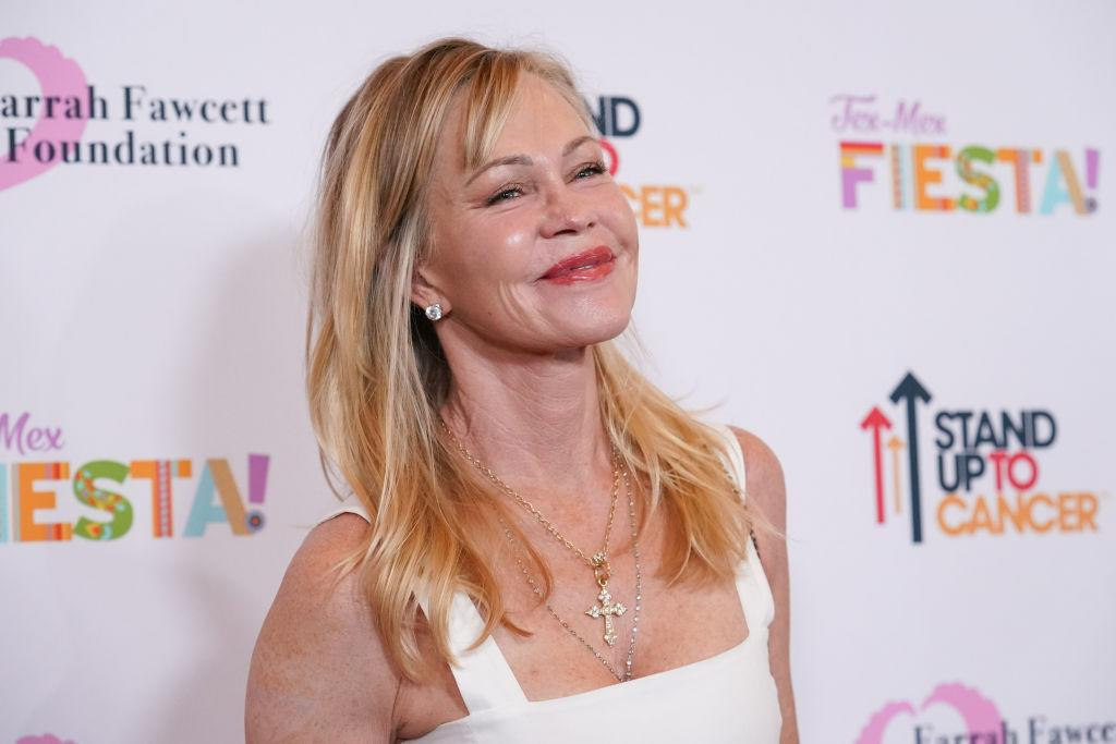 Melanie Griffith has stripped to her underwear for a good cause, pictured here in September 2019. (Getty Images)