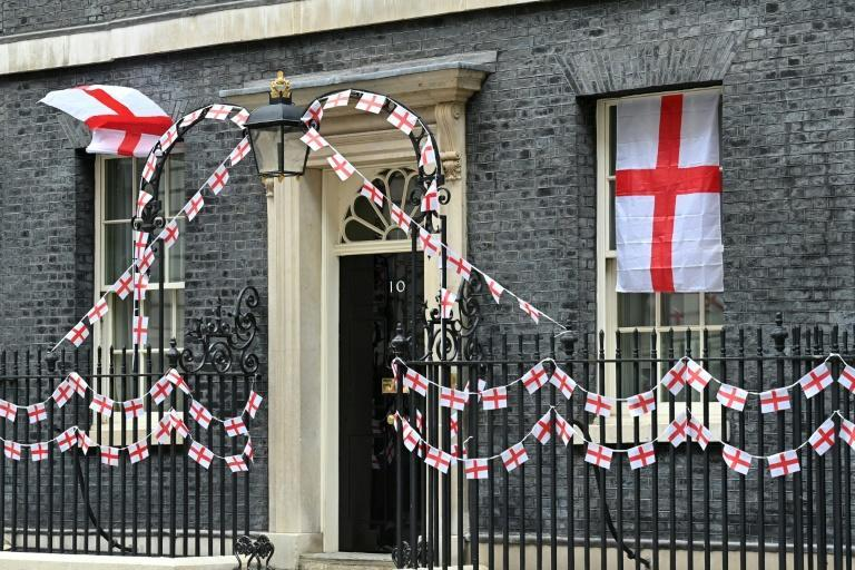 Downing Street given a St George's flag makeover