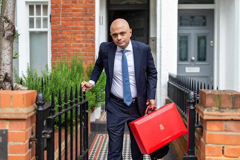 Sajid Javid leaves his London home on June 17, 2019 in London, England. Photo by Luke Dray/Getty Images