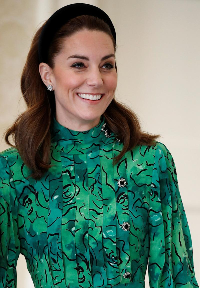 A closer look at the details on Kate's outfit. (Photo: Pool via Getty Images)