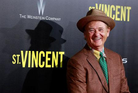 """FILE PHOTO: Cast member Bill Murray arrives for the premiere of the film """"St. Vincent"""" in New York"""
