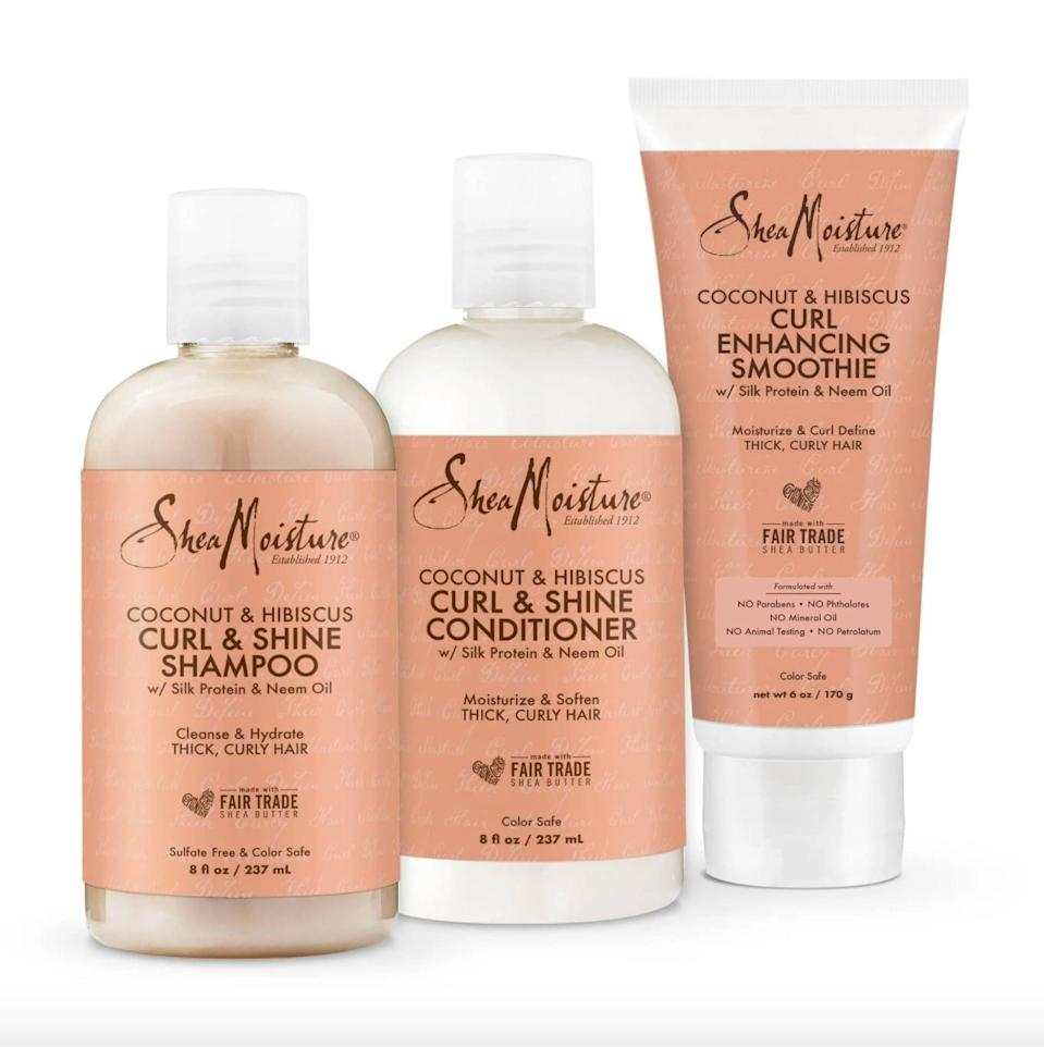 <p>For anyone with curls or waves, <span>SheaMoisture's Coconut and Hibiscus Curl Defining Hair Kit</span> ($15) contains emollient, tropical-scented formulas that have you covered.</p>