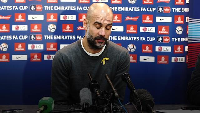 Manchester City were stunned by Wigan Athletic in the fifth round of the FA Cup as Pep Guardiola's side were beaten 1-0, courtesy of a Will Grigg goal.