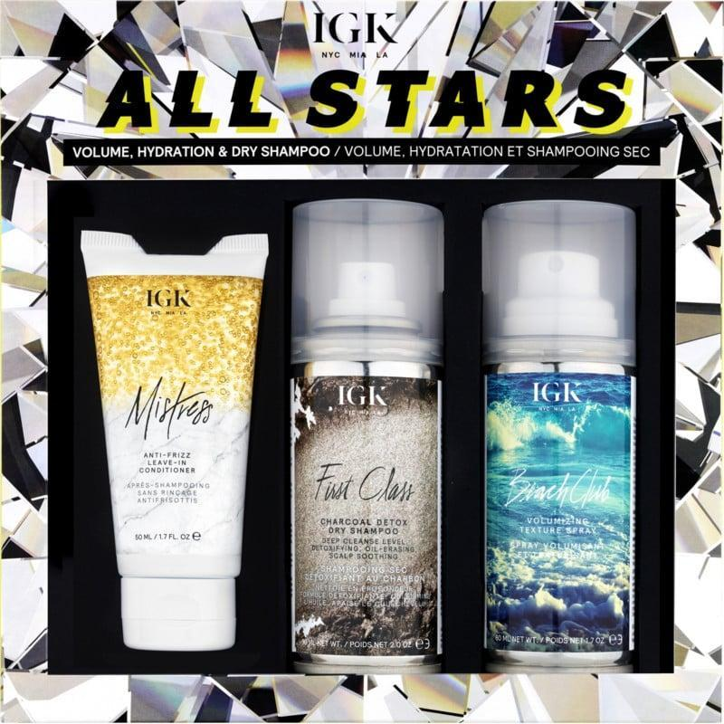<p>Your friend who feels best after a blowout will fall in love with the <span>IGK All Stars Volume, Hydration And Dry Shampoo Kit </span> ($25).</p>