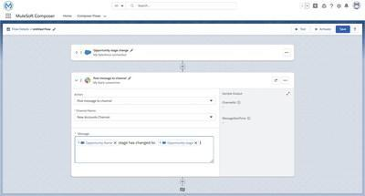 Automate integrations directly in the Salesforce admin console with MuleSoft Composer for Salesforce.