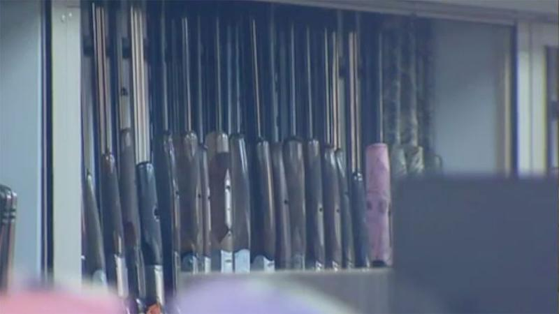 Four men stole a large number of handguns from the Thornbury store on Monday morning. Photo: 7 News