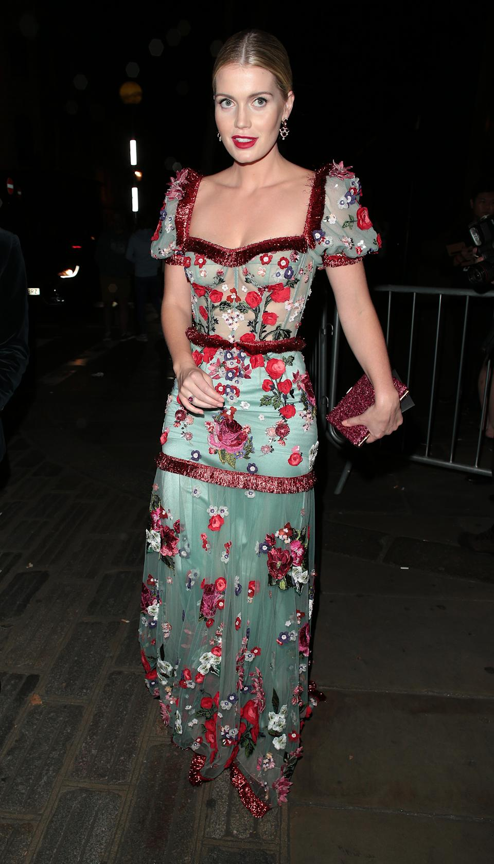 Lady Kitty Spencer seen attending the Fashion For Relief gala event during London Fashion Week [Photo: Getty Images]