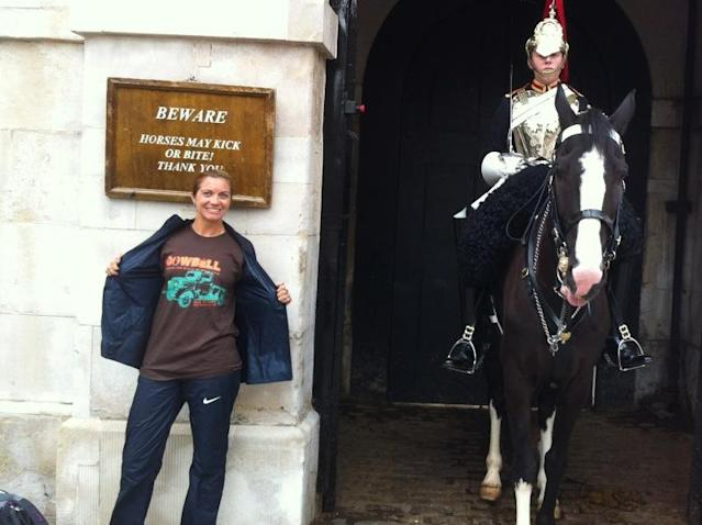 ‏@cowbellnola being represented at Horse Guards Parade in London. #dreamingold @MistyMayTreanor