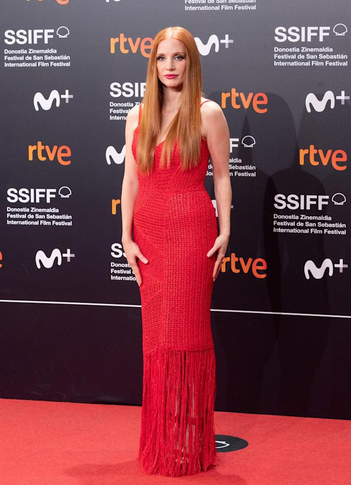 <p>WHO: Jessica Chastain </p> <p>WHAT: Givenchy Haute Couture </p> <p>WHERE: The San Sebastian Film Festival </p> <p>WHEN: September 25</p>