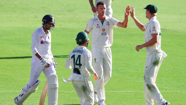 Josh Hazlewood was the pick of the Australian bowlers in India's first innings with figures of 5/57, his second five-for this series. AP