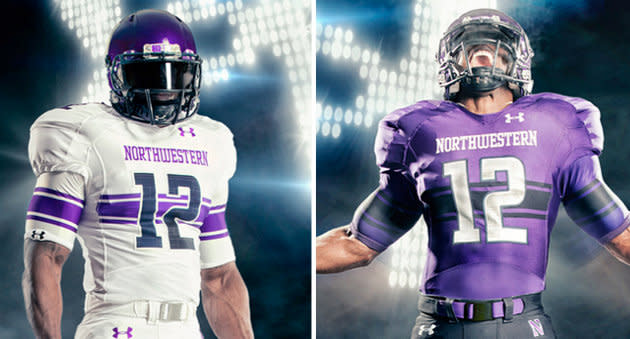 timeless design 1ec82 99bda Northwestern's new jerseys include a rugby-esque stripe ...