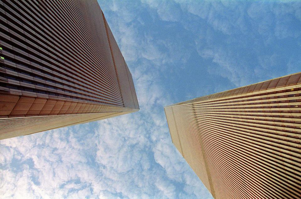 The World Trade Center Twin towers in New York in 1992. (Ronan Robert/AFP via Getty Images)