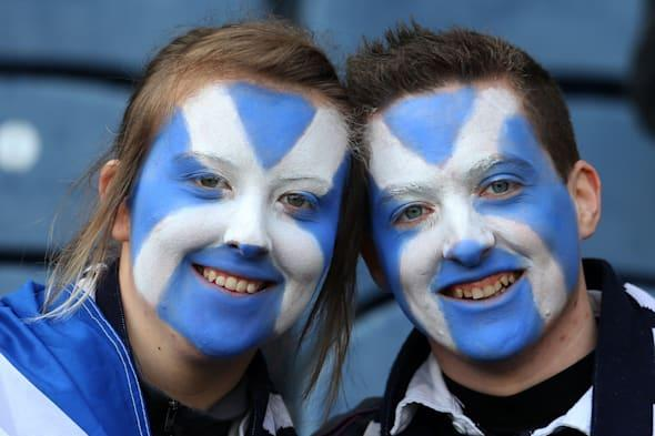 File photo dated 24/02/13 of Scottish rugby fans as a study of more than 400,000 Britons has found wide personality difference between regions - with Scots proving the friendliest, Welsh the shyest and Londoners the least welcoming. PRESS ASSOCIATION Photo. Issue date: Wednesday March 25, 2015. Researchers from the University of Cambridge looked at data gathered online about five traits - extroversion, agreeableness, conscientiousness, emotional stability and openness - to assess the personality of residents in different parts of the country. Dr Jason Rentfrow, from the university's Department of Psychology, said the findings were more than