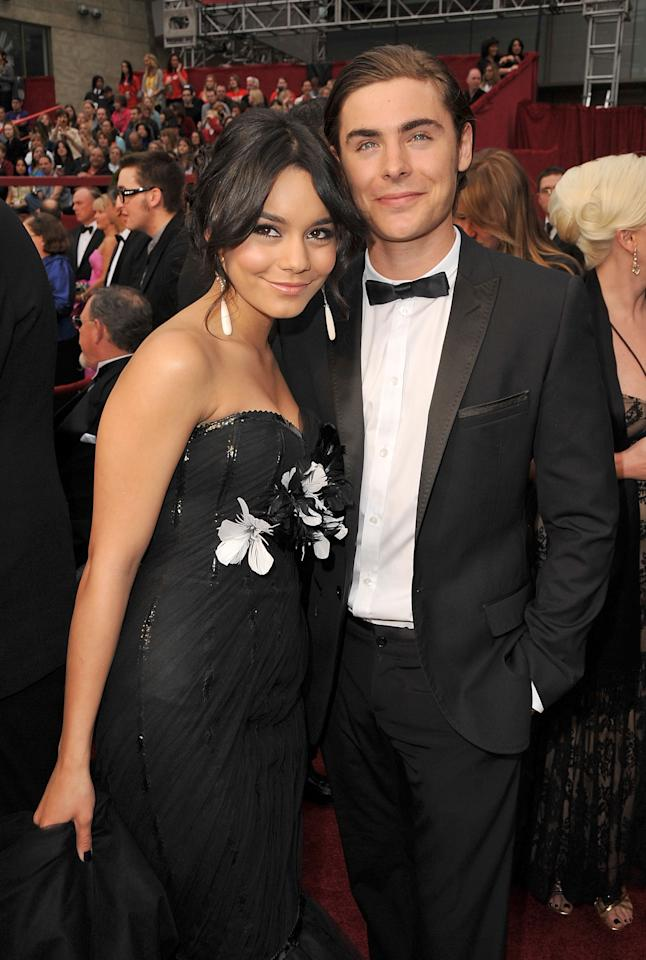 Vanessa Hudgens and Zac Efron at the 81st Annual Academy Awards - Feb. 22, 2009