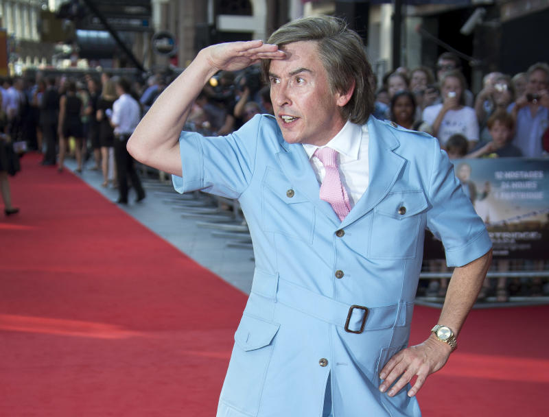Steve Coogan arrives at the London Premiere of Alan Partridge: Alpha Papa at a central London cinema, Wednesday, July 24, 2013. (Photo by Joel Ryan/Invision/AP)