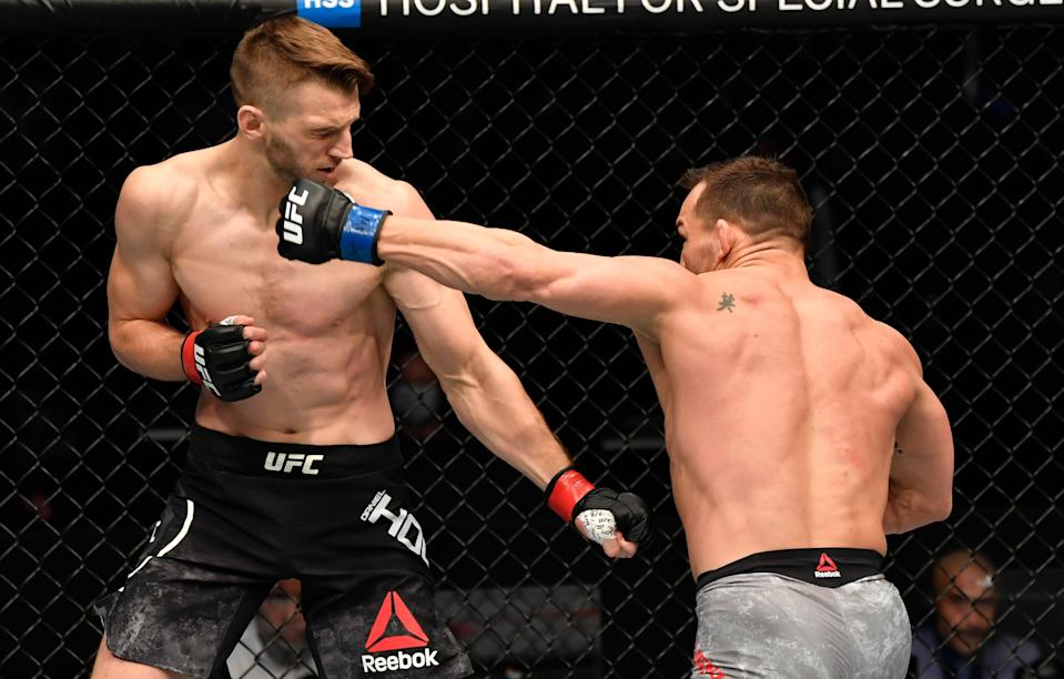 Chandler enjoyed a perfect UFC debut as he TKOed Dan Hooker at UFC 257Zuffa LLC via Getty Images
