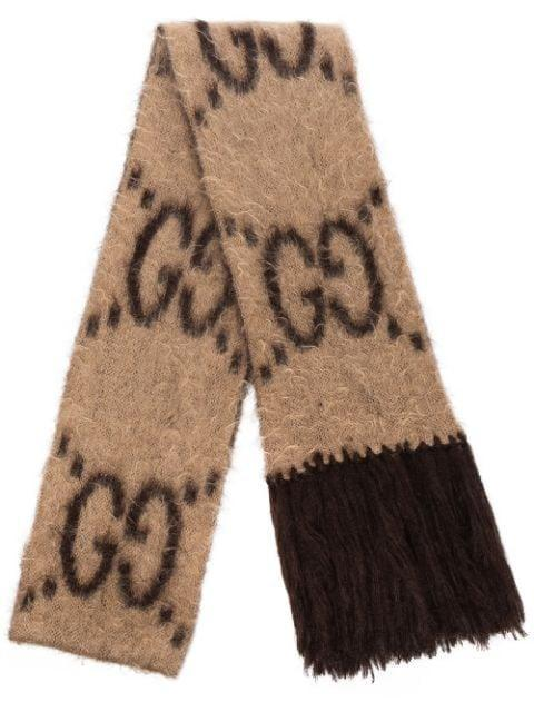 <p>The <span>Gucci GG-Pattern Fringed Scarf</span> ($590) is so incredibly soft.</p>