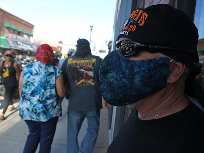 """Real Pinard, who recovered from a 15-day bout of COVID-19, said many rally goers believe that the pandemic is a hoax designed to throw Trump's re-election. <p class=""""copyright"""">Jim Urquhart for Insider</p>"""