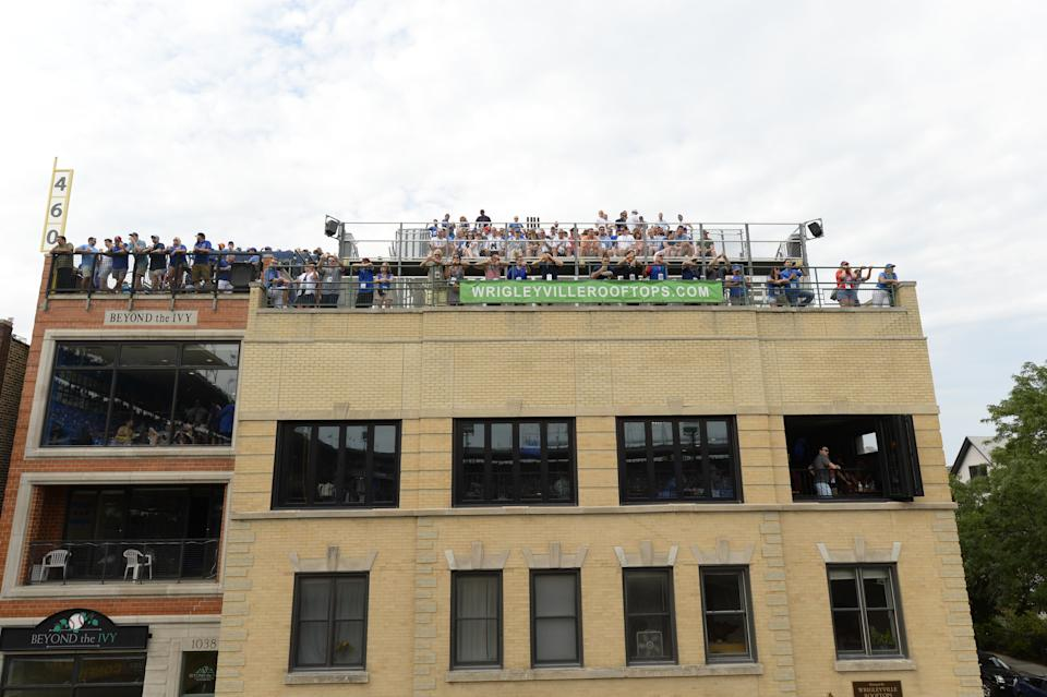 A view of the rooftop at 1032 W. Waveland where Glenallen Hill's home run ball landed on May 11, 2000. (Photo by Ron Vesely/MLB via Getty Images)