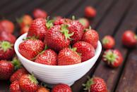 <p>Filled with antioxidants, fiber, and vitamin C, strawberries are a bright and tasty choice. Slice them up and serve on top of oatmeal, yogurt, or mixed with spinach and walnuts for a sweet and savory salad.</p><p><em>1 serving = 1 cup berries </em></p>