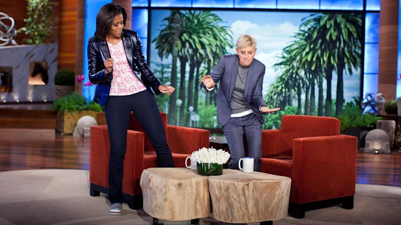 Astounding Michelle Obama Ellen Degeneres Show Off Their Musical Ocoug Best Dining Table And Chair Ideas Images Ocougorg