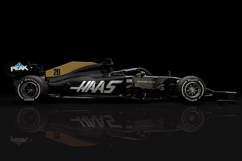 Haas reveals revised livery after Rich Energy exit