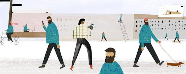 Keep on swiping. (Illustration: Hannah Jacobs for Yahoo Style)