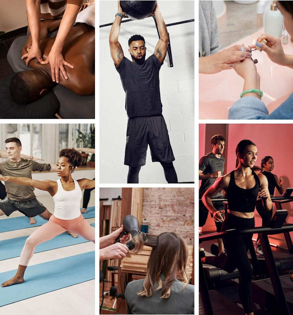 """<h2>Classpass Gift Card</h2><br>For virtual workouts together or apart, give them the gift of <a href=""""https://www.refinery29.com/en-us/2020/12/10206788/fitness-gift-cards-2020"""" rel=""""nofollow noopener"""" target=""""_blank"""" data-ylk=""""slk:choosing from pilates to HIIT, barre, and yoga"""" class=""""link rapid-noclick-resp"""">choosing from pilates to HIIT, barre, and yoga</a>. <br><br><em>Shop <strong><a href=""""https://fave.co/3g95ftR"""" rel=""""nofollow noopener"""" target=""""_blank"""" data-ylk=""""slk:Classpass"""" class=""""link rapid-noclick-resp"""">Classpass</a></strong></em> <br><br><strong>ClassPass</strong> Classpass Gift Card, $, available at <a href=""""https://go.skimresources.com/?id=30283X879131&url=https%3A%2F%2Ffave.co%2F3g95ftR"""" rel=""""nofollow noopener"""" target=""""_blank"""" data-ylk=""""slk:ClassPass"""" class=""""link rapid-noclick-resp"""">ClassPass</a>"""
