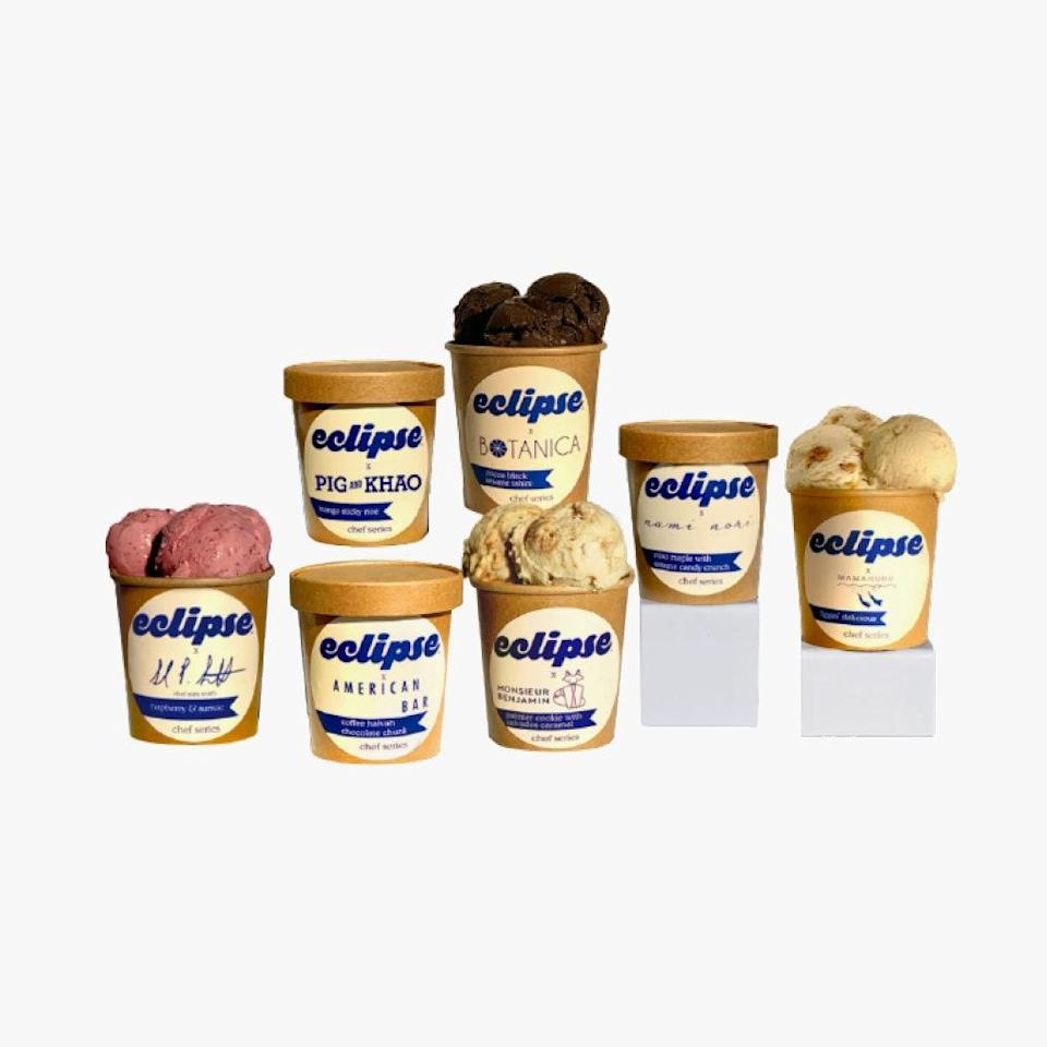 """Your favorite NYC restaurants and chefs have partnered with vegan/plant-based ice cream maker Eclipse and made some highly inventive flavors. Sales benefit the restaurant industry. $18, Eclipse Foods. <a href=""""https://shop.eclipsefoods.com/"""" rel=""""nofollow noopener"""" target=""""_blank"""" data-ylk=""""slk:Get it now!"""" class=""""link rapid-noclick-resp"""">Get it now!</a>"""